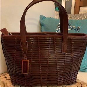 COLETTA Vintage Leather Purse Reddish Brown EUVC